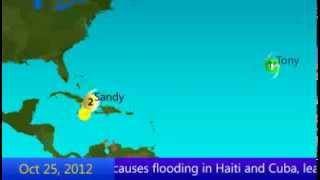 2012 Atlantic Hurricane Season Animation (Preliminary)