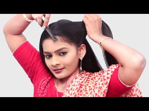 New Easy juda self hairstyle with trick | simple hairstyle | cute hairstyle | hairstyle for girls thumbnail