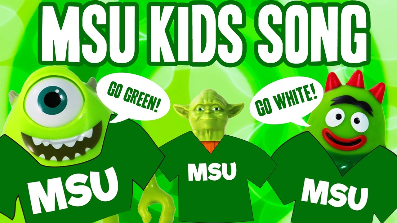 MSU Kids Song COLOR GREEN | Michigan State Go Green Go White Song ...
