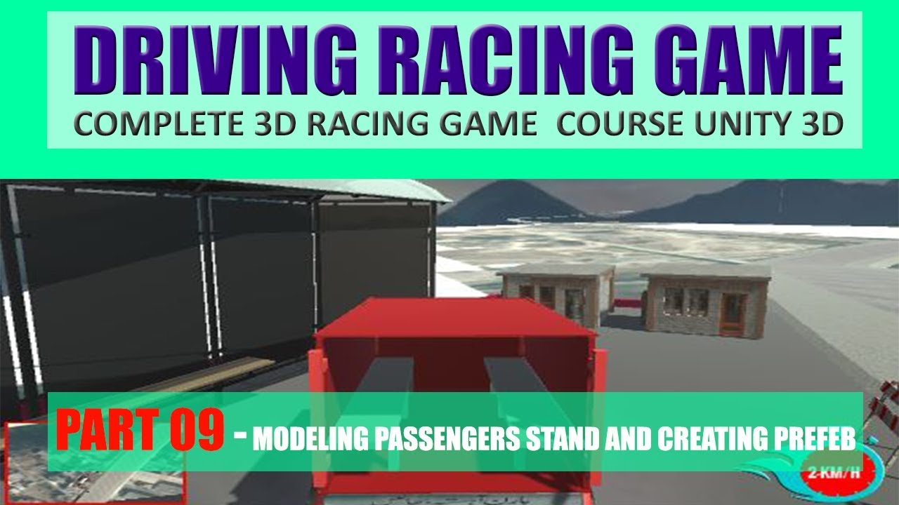 Modeling Passengers Picking Stand | Building Advance Driving Racing Game In Unity & C# #9