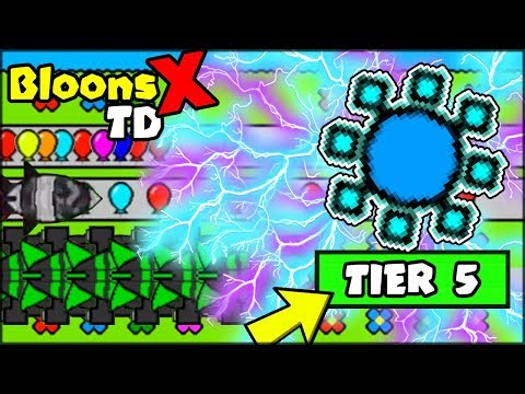 🔴 UNLOCKING THE BEST TIER 5 TOWER (CHARGE TOWER UPGRADES)   BTD X / BLOONS TD X (like BTD BATTLES)