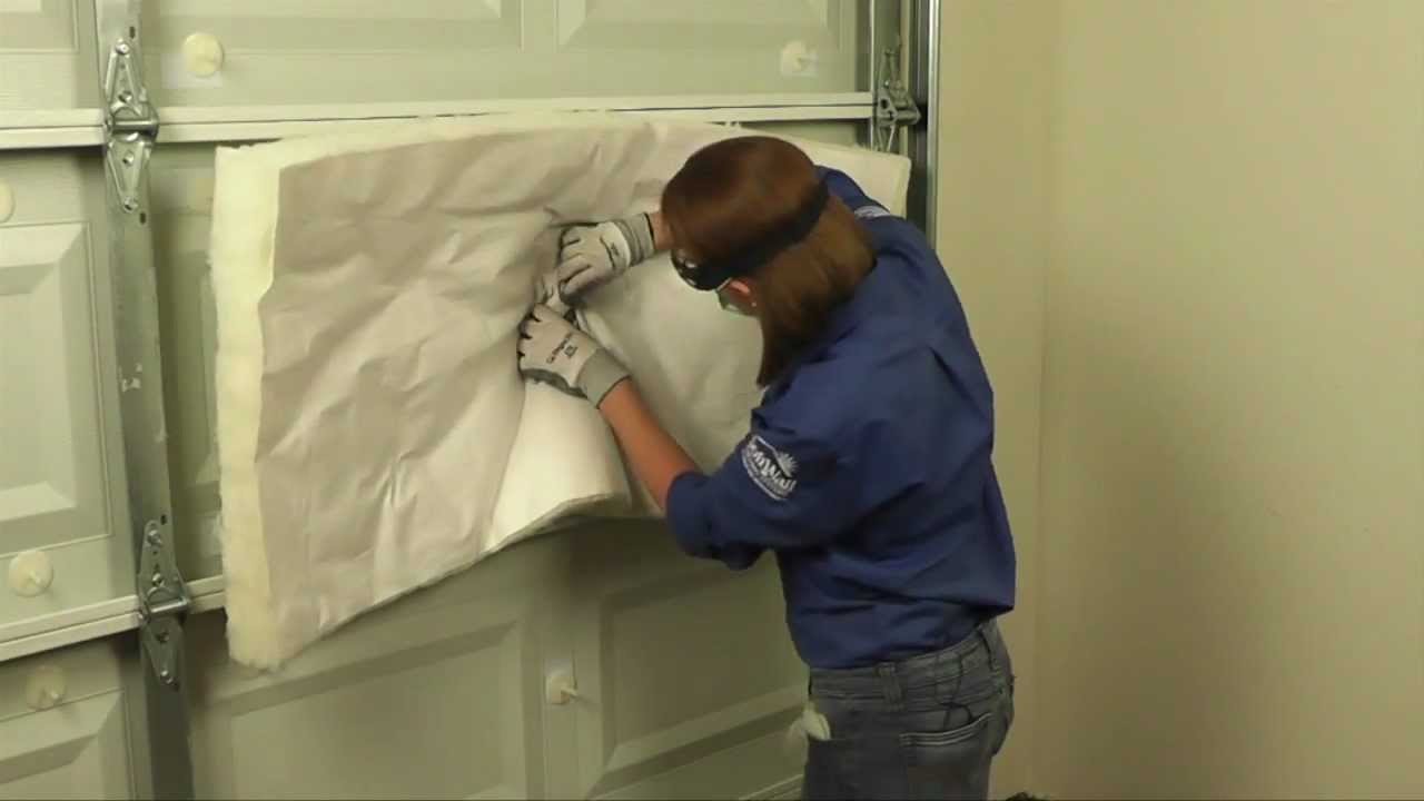 how to insulate a garage door youtube