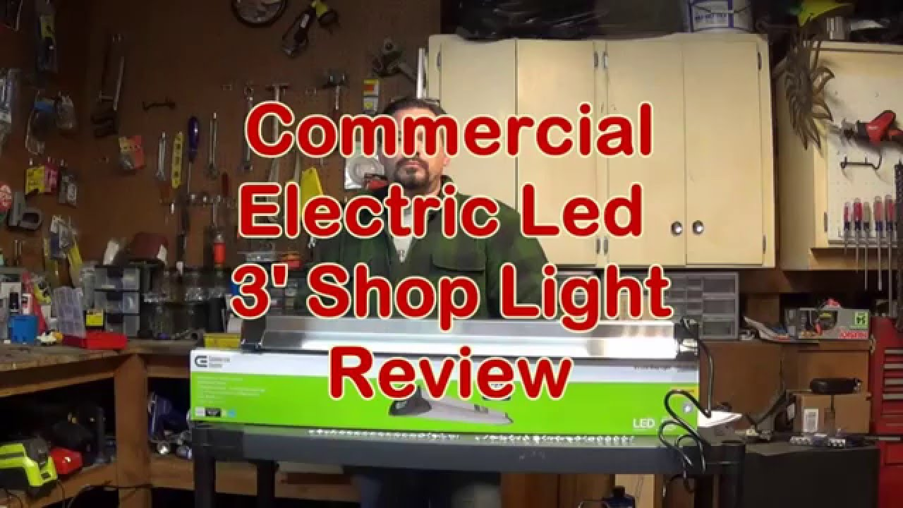 Commercial electric 3 foot led shoplight youtube aloadofball Image collections