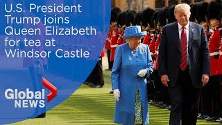 Queen Elizabeth welcomes President Trump to Windsor Castle