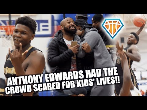 Anthony Edwards HAD THE CROWD SCARED FOR KIDS' LIVES!! Drops 41 at ARS National HoopFest DC