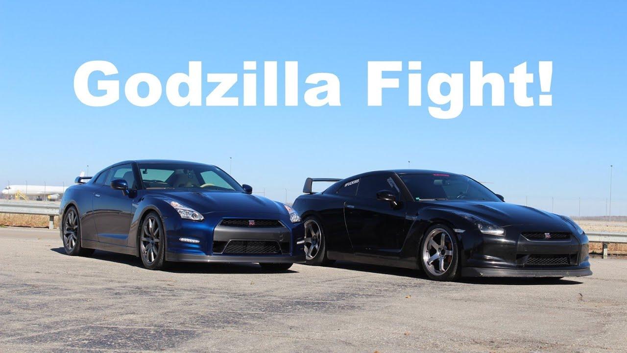 Godzilla Fight 2009 Vs 2015 Gtr Comparison Youtube