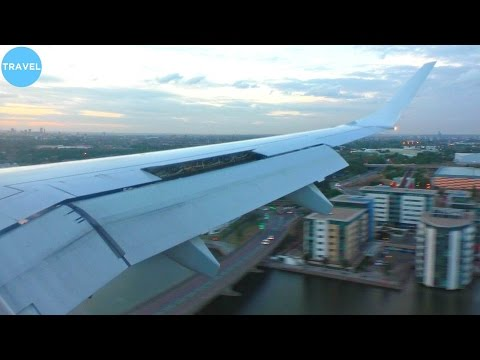 Lufthansa Embraer 190 Short Runway Landing at London City Airport!