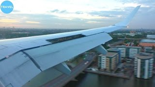 Скачать Lufthansa Embraer 190 Short Runway Landing At London City Airport