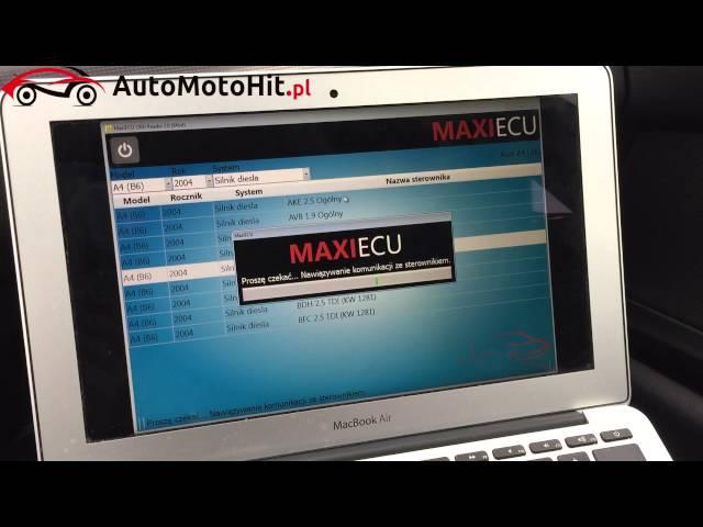 MaxiEcu - program i interfejs do pe?nej diagnostyki pojazdu