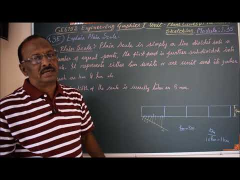 Explain Plain Scale - M1.35 - Engineering Graphics in Tamil.