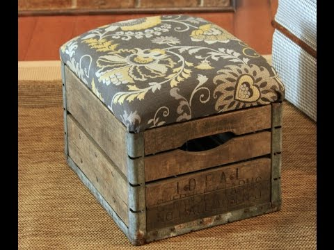 DIY Milk Crate Ottoman| Build Crate Seats For YOUR HOME