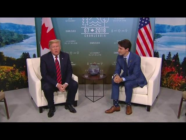 Trump and Trudeau Meet Amid Trade Tensions