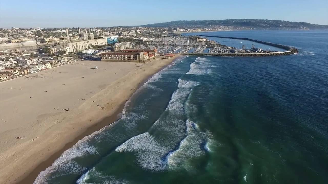 Redondo Beach Hermosa Drone Aerial View Dji Phantom 3 Los Angeles County Ca