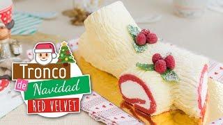 Tronco de Navidad Red Velvet | Roll Cake | Quiero Cupcakes!
