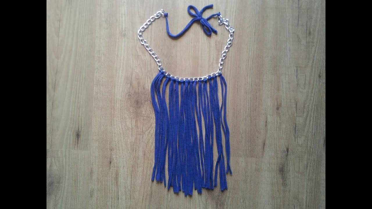 C mo hacer un collar de trapillo f cil y barato - Como hacer trapillo ...
