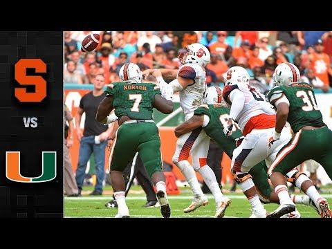 Syracuse vs. Miami Football Highlights (2017)