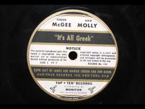 IT'S ALL GREEK by Fibber McGee and Molly