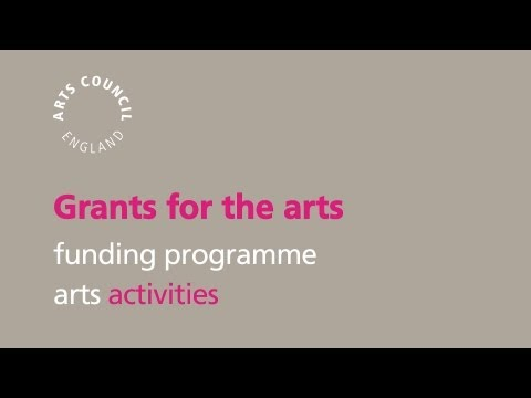 Welcome to Grants for the arts
