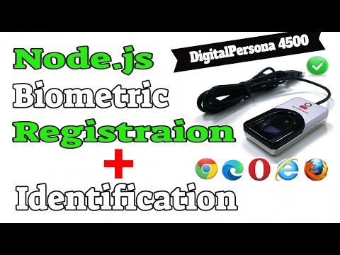 NodeJS Biometric Fingerprint Registration and Authentication using a DigitalPersona 4500 Scanner