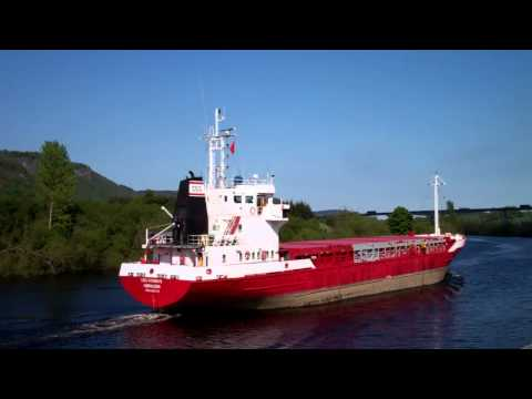 Cargo Ship River Tay Perth Perthshire Scotland May 21st