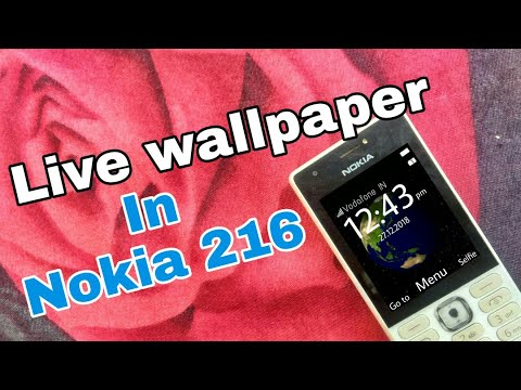 Downloading and installing live wallpaper in Nokia 216 (Nokia phones) in Hindi.
