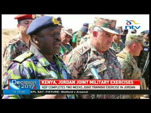 KDF completes two weeks joint training exercise in Jordan