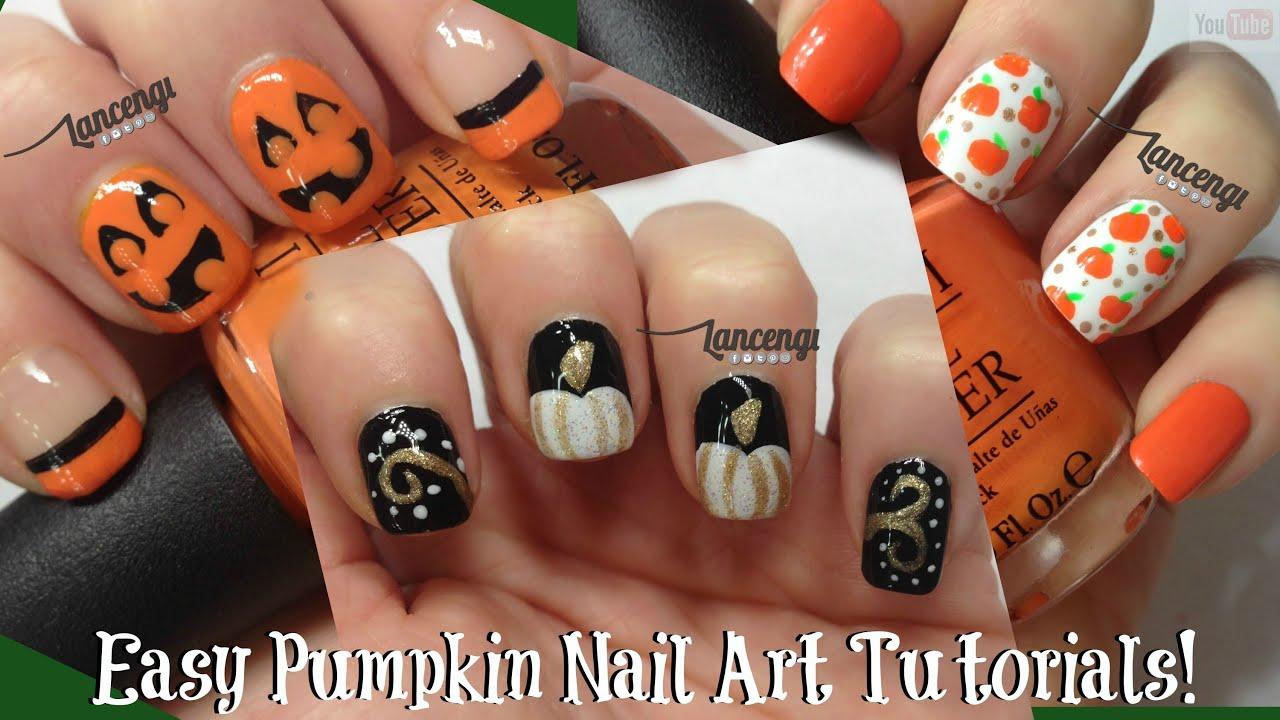 DIY Easy Halloween Nails - Cute Pumpkin Nail Designs #11 ...