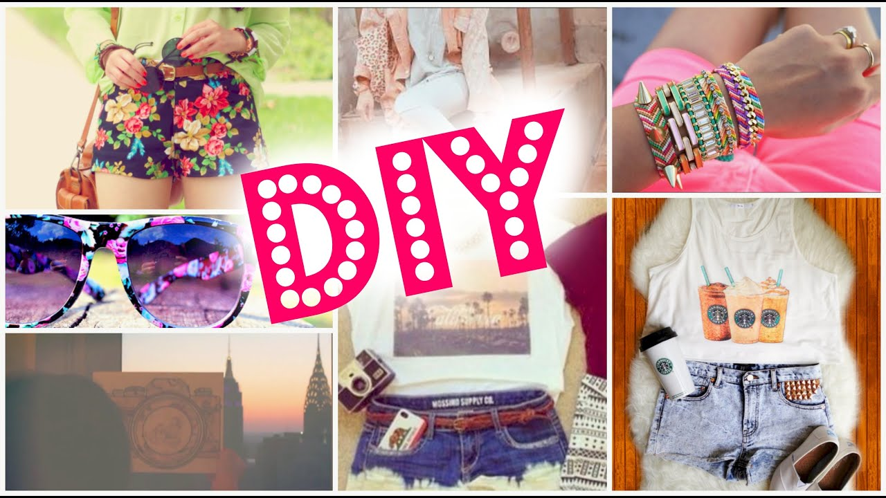 Diy Make Your Own Clothes For Summer Youtube