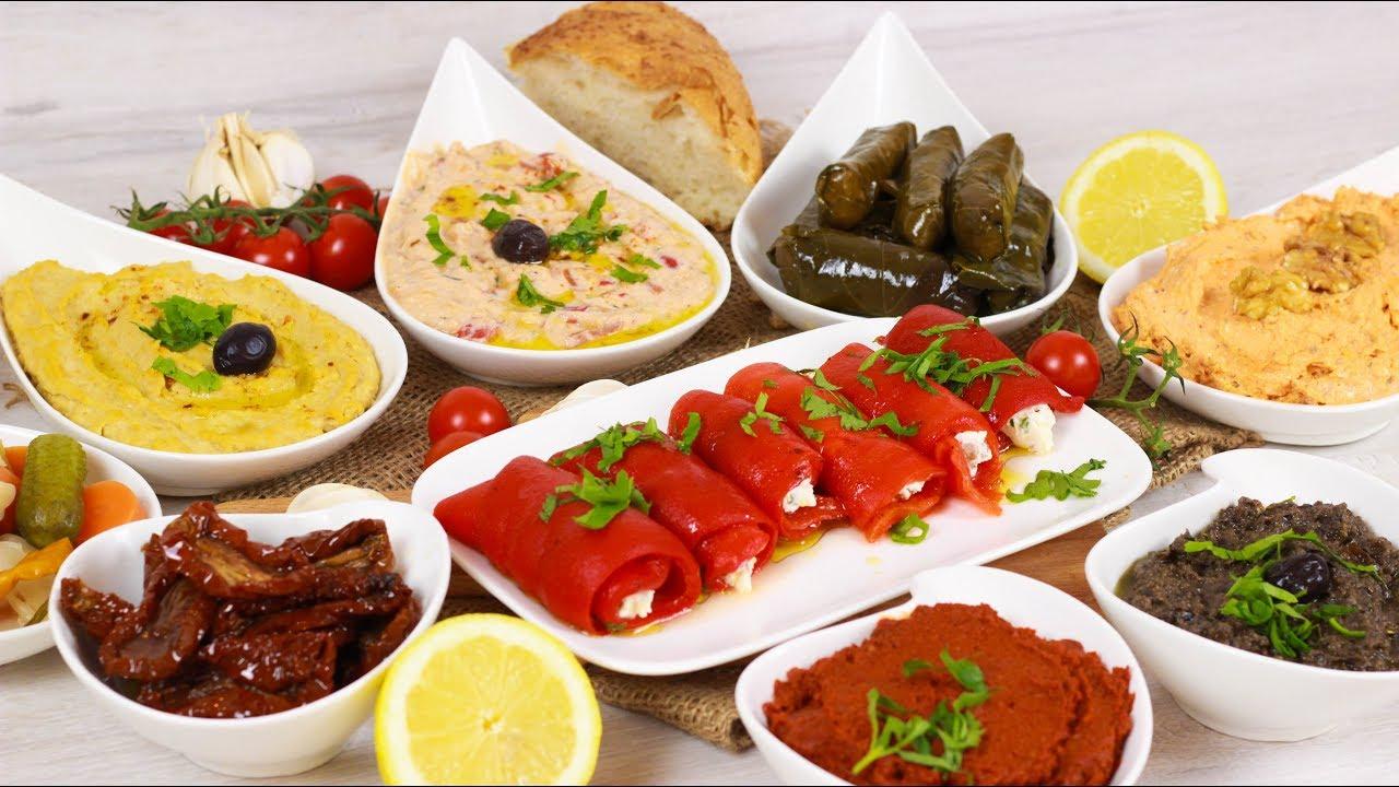 Turkische Vorspeisen Meze I Beilagen Zum Grillen Dips Youtube