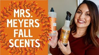 MRS MEYERS FALL SCENTS! | Reviewing ALL the Mrs Meyers Fall 2019 Scents  | MRSPETESHOUSE