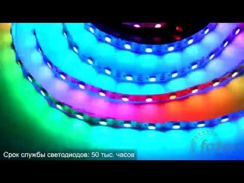 Светодиодная лента SMD 5050 WS2812 60 LEDm RGB IP20 Econom