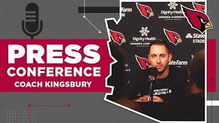 Kingsbury Reflects on Victory vs. Browns | Arizona Cardinals