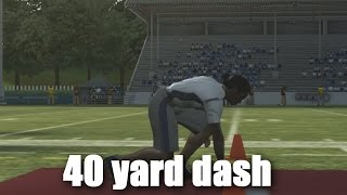 RUNNING MY 40 YARD DASH IN MADDEN 11! WILL THE COMBINE BE IN MADDEN 18?