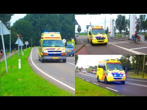 COMPILATION DUTCH AMBULANCES [AMSTERDAM AMBULANCE SERVICES]