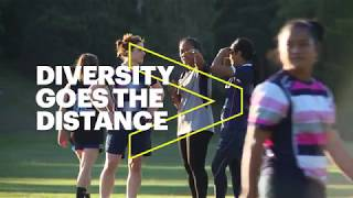 DIVERSITY GOES THE DISTANCE; PROUD TO PARTNER WITH RUGBY AUSTRALIA.