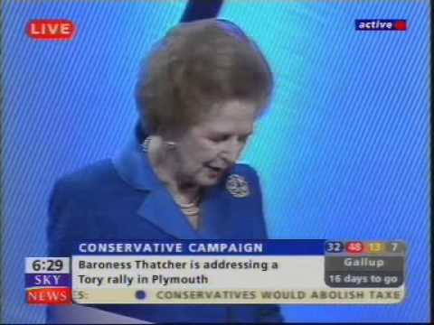 Baroness Margaret Thatcher's 'Mummy Returns' speech in Plymouth 22/5/2001