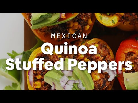 Mexican Quinoa Stuffed Peppers | Minimalist Baker Recipes