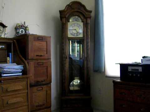 Colonial Clock Co Grandfather Clock Cir 1980 Youtube
