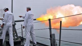 礼砲21発・軍艦が外国の港に入港するときの国際儀礼 21-gun salute