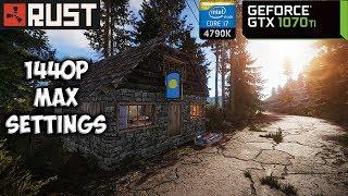 Rust - Frame Rate Test - GTX 1070 Ti + i7 4790K | PC Max Settings 1440p