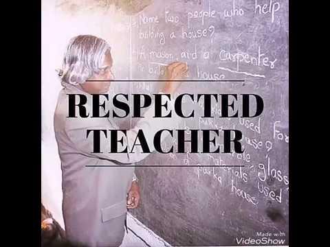 Respected Teacher: A poem dedicated to teachers...
