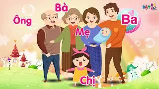 Dạy bé tập nói các thành viên trong gia đình - Dạy bé học