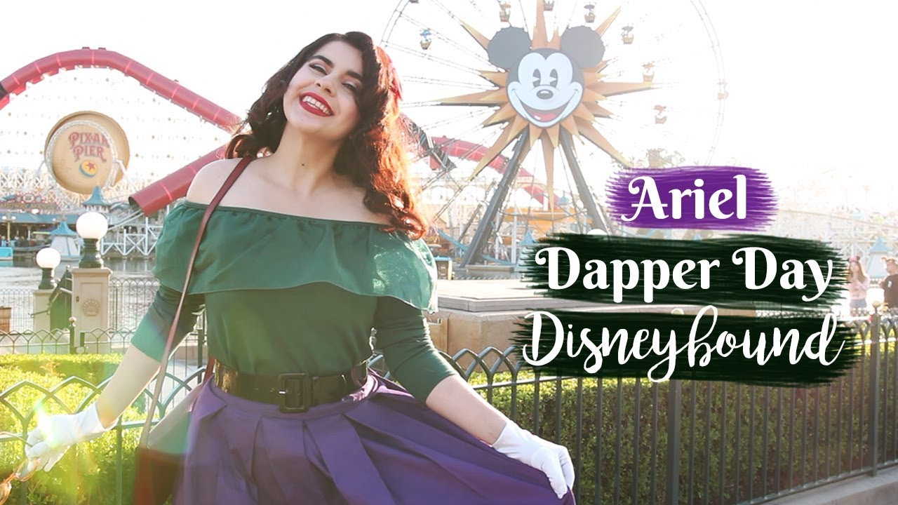 [VIDEO] - The Little Mermaid DisneyBound Outfit | Disneyland Dapper Day 2