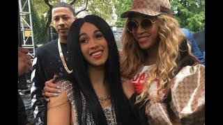 Cardi B Finally Meets Beyonce Backstage At Made In America Fest