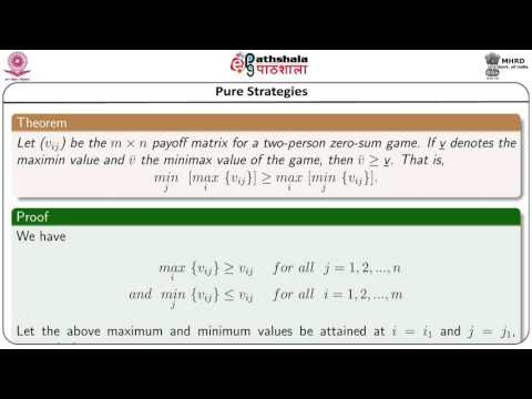 Basic concept and terminologies, two-person zero-sum game (Math)