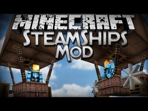 Minecraft Mod Showcase: Steamships Mod - Steampunk Airships!