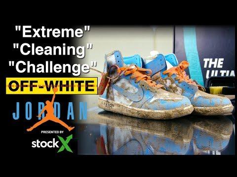 Renowacja zniszczonych i brudnych Off-White x Jordan 1 UNC