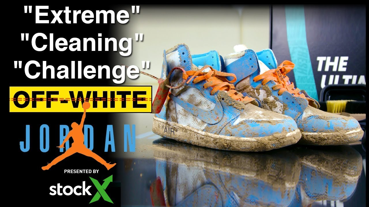 e6863be762aff8 Off-White Jordan 1 UNC Extreme Cleaning Challenge presented by ...