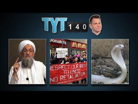 Ferguson Inquiry, Al-Qaeda Branch, Fast Food Strike & Escaped Cobra | TYT140 (September 4, 2014)