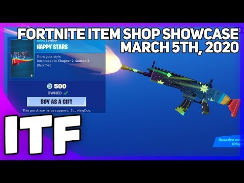 Fortnite Item Shop *NEW* HAPPY STARS WRAP! [March 5th, 2020] (Fortnite Battle Royale)